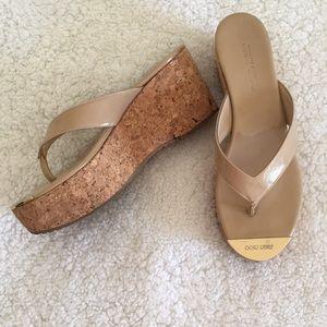 Jimmy Choo Platform Wedge Thong Sandals